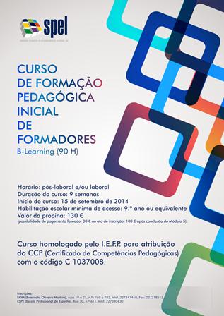 CURSO DE FORMAÇÃO PEDAGÓGICA INICIAL DE FORMADORES