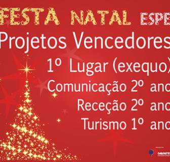 Projetos Vencedores Festa Natal Espe