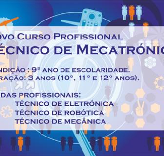Novo Curso Profissional Técnico de Mecatrónica
