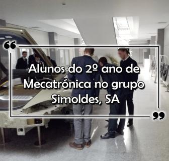 Alunos do 2º ano de Mecatrónica no grupo Simoldes, SA