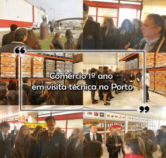 Comércio 1º ano em visita técnica no Porto